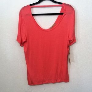 Tee By Big Star Pink Top Choker Size Large NWT